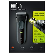 image 1 of Braun 3000S Series 3 Mens Cordless Wet & Dry Foil Electric Shaver - Black