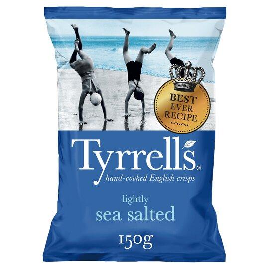 Tyrrells Crisps Lightly Sea Saltd Crisps150g