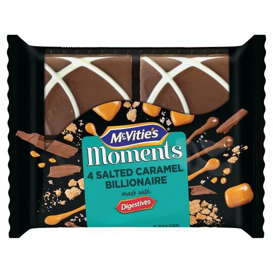 Mcvities Moments 4 Salted Caramel Billionaire