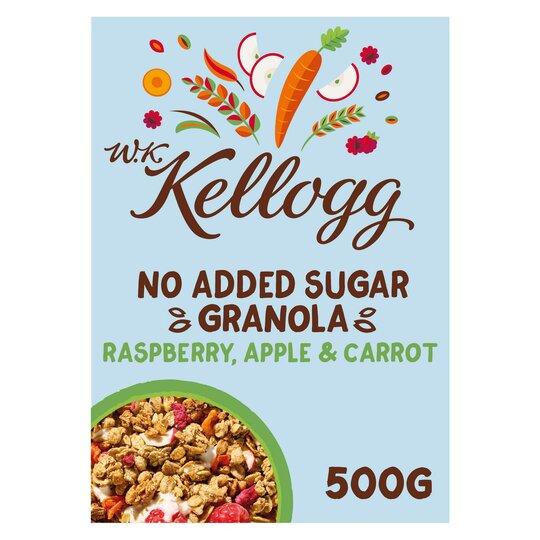 Wk Kellogg No Added Sugar Raspberry Apple & Carrot Granola 500G