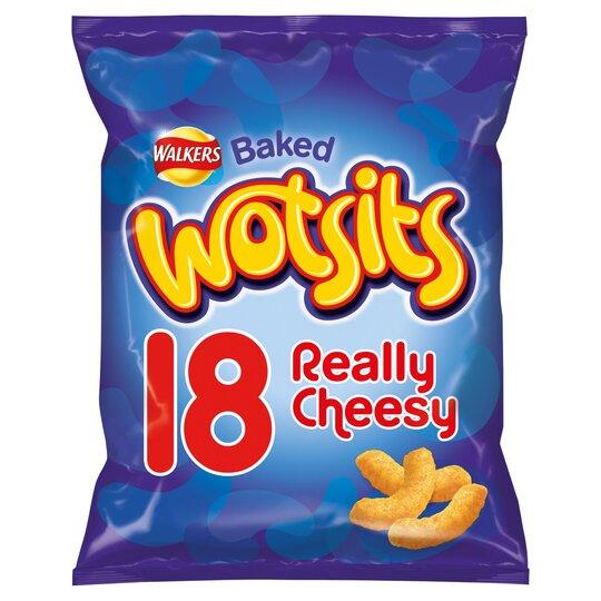 Walkers Wotsits Cheesy Snacks 18 X 16.5G