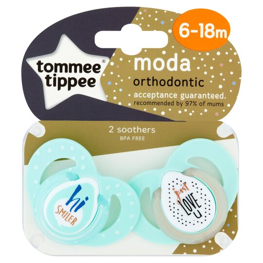 Tommee Tippee Closer To Nature Moda 6-18M Soothers 2 Pack