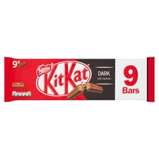 image 1 of Kit Kat 2 Finger Dark Chocolate Biscuits 9 Pack 186.3G
