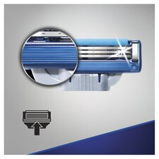 image 3 of Gillette Mach 3 Turbo Razor Blades Refill 8 Pack
