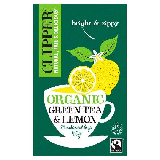Clipper Organic Fair Trade Lemon Green Tea 20S 40G