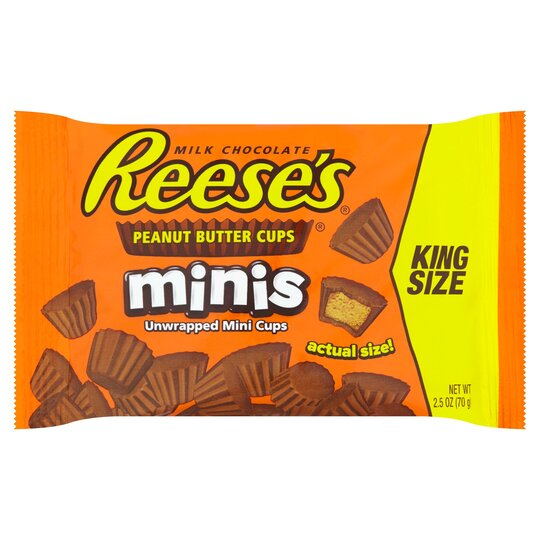 Reeses Milk Chocolate Peanut Butter Cups Minis 70G