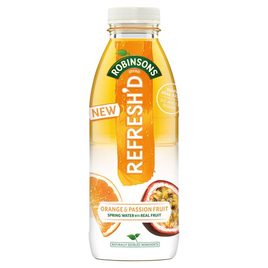 Robinsons Refresh'd Orange & Passion Fruit 500Ml