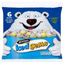 image 1 of Mcvities Iced Gems 6 X 25G