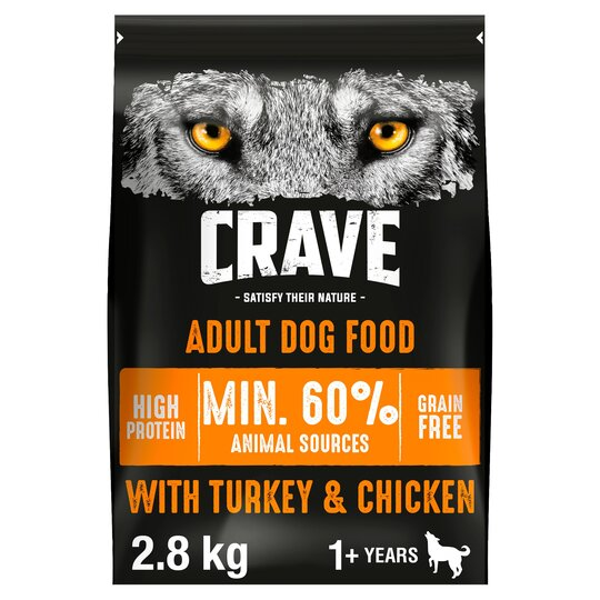 image 1 of Crave High Protein Dry Dog Food Turkey And Chicken 2.8Kg
