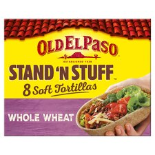 image 1 of Old El Paso Soft Stand 'N' Stuff Whole Wheat Tortillas 8Pk 193G