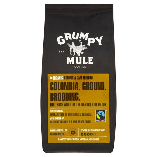 Grumpy Mule Organic Colombia Ground Coffee 227G