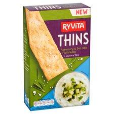 image 2 of Ryvita Thins Rosemary & Sea Salt Flatbreads 125G