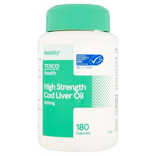 Tesco Health High Strength Cod Liver Oil 180'S