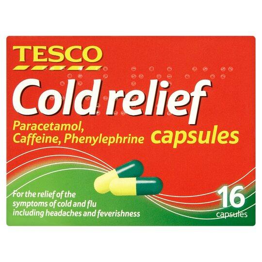 Tesco Cold Relief Capsules 16'S