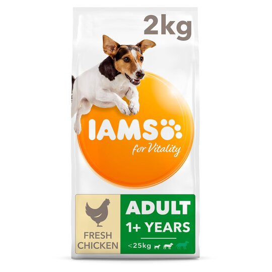 image 1 of Iams Small Medium Adult Dog Food With Chicken 2Kg