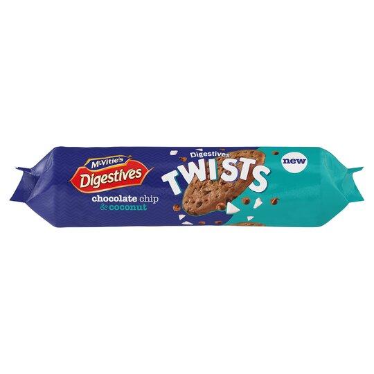 Mcvitie's Twist Chocolate Chip Coconut Digestives 276G