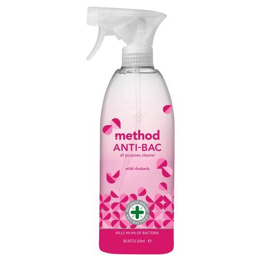 Method Antibacterial All Purpose Cleaner Spray Wild Rhubarb 828Ml