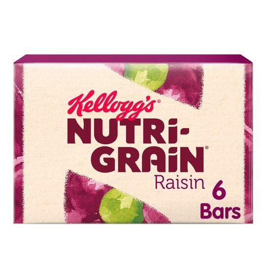 Kellogg's Nutri-Grain Raisin 6 X 45G