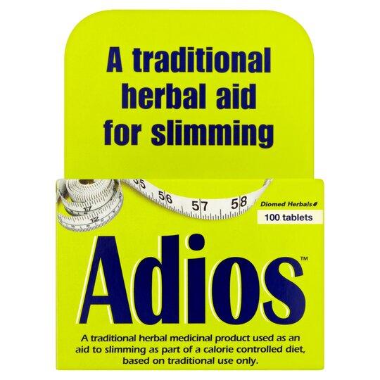 Adios Original Weight Loss Tablets Tesco Groceries