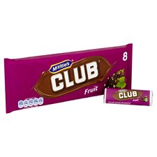 image 2 of Mcvities Club Fruit Biscuit 8 Pack 184G