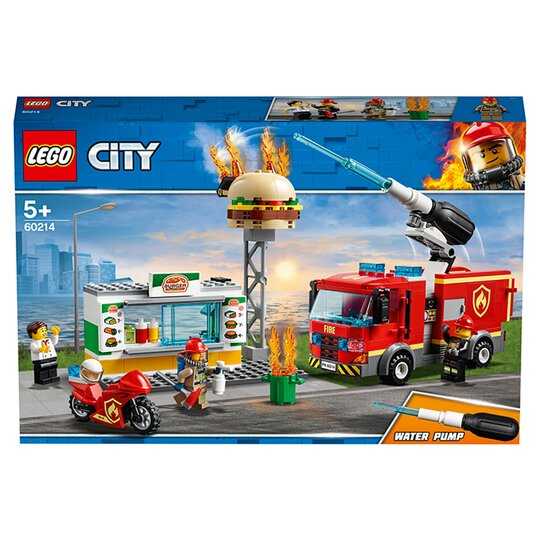 LEGO City Burger Bar Fire Rescue Fire Truck Toy 60214