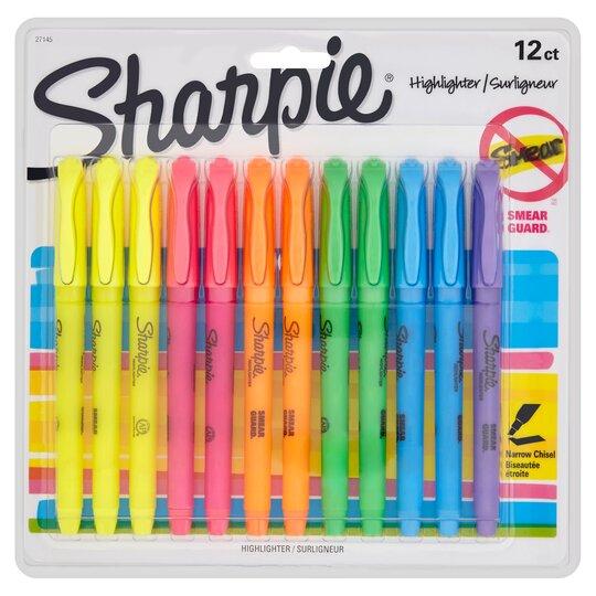 Sharpie Highlighter Asstd 12 Pack
