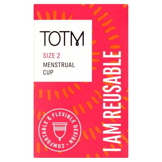 Totm Reusable Menstrual Cup Size 2