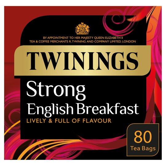 Twinings Strong English Breakfast 80 Tea Bags 250G