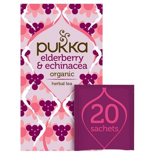 Pukka Elderberry & Echinacea Organic 20 Tea Bags 40G
