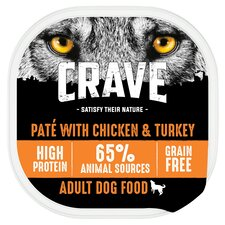 image 1 of Crave Dog Food High Protein Chicken And Turkey 300G