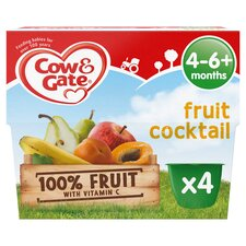image 1 of Cow & Gate Fruit Cocktail Fruit Pot 4X100g 4 Mth+