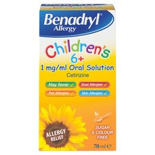 image 1 of Benadryl Allergy Children's Oral 70 Ml