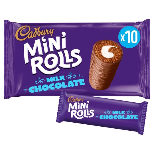 image 1 of Cadbury Mini Rolls Milk Chocolate 10 Pack