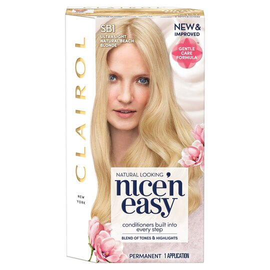 Clairol Nice 'N Easy Ultra Light Natural Blonde Beach Sb1 Hair Dye