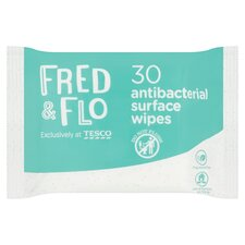 Fred & Flo Antibacterial Surface Wipes 30'S