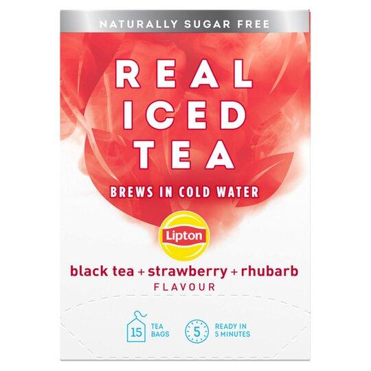 Lipton Real Iced Tea Strawberry & Rhubarb 15'S 33G