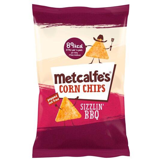 Metcalfe's Corn Chips Sizzlin' Bbq 85G