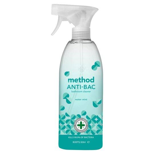 Method Antibacterial Bathroom Spray Water Mint 828Ml