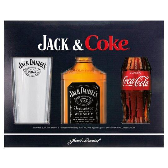 Jack Daniels And Coke Cola Glass Gift Pack