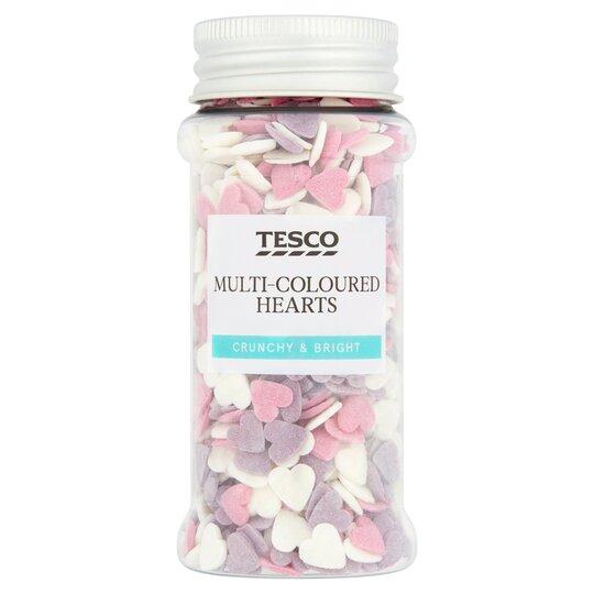 Tesco Multi Coloured Heart Sprinkles 60G - Tesco Groceries