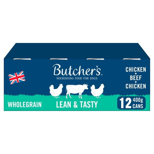 Butcher's Lean And Tasty Dog Food Tins 12X400g