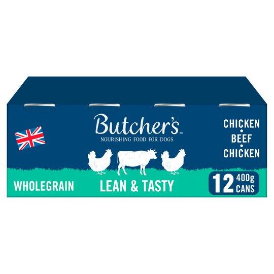 Butcher's Lean & Tasty Dog Food Tins 12X400g