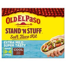 image 1 of Old El Paso Extra Mild Stand 'N' Stuff Soft Taco Kit 329G