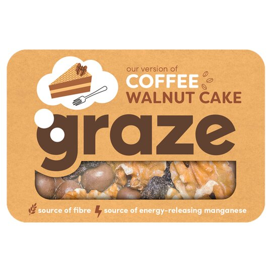 Graze Coffee And Walnut Cake Punnet 34G