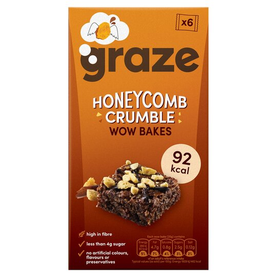 Graze Honeycomb Crumble Wow Bakes 6 X 20G