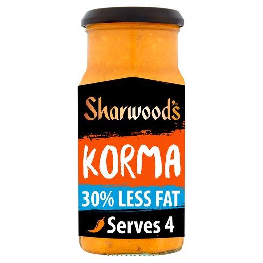 Sharwoods Korma 30% Less Fat Cooking Sauce 420G
