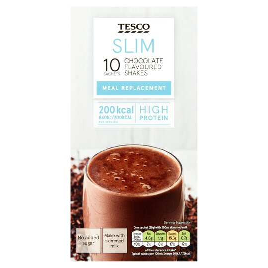 Tesco Slim Chocolate Meal Replacement Shakes 10x29g