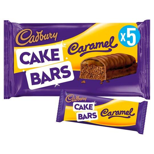 image 1 of Cadbury Caramel Cake Bars 5 Pack