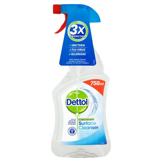 Dettol Surface Cleanser Antibacterial Spray 750 Ml Tesco
