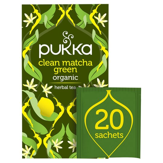 Pukka Organic Fair Matcha Clean Green 20 Tea Bags 30G